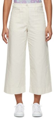 Kenzo Off-White Linen Culottes