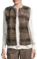 Lafayette 148 New York Murray Mink Fur & Cashmere Vest