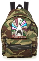 Saint Laurent Sweet Dreams-embellished Camouflage Backpack