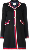 Gucci Sylvie Web trim coat - women - Silk/Cotton/Viscose/Wool - 42