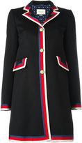 Gucci Sylvie Web trim coat