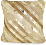 Bed Bath & Beyond Diagonal Striped Leather Square Throw Pillow