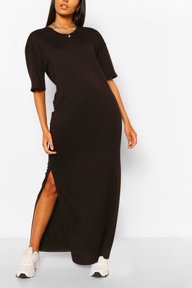 boohoo Tall Scoop Neck Maxi T-Shirt Dress