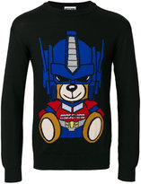 Moschino transformer bear intarsia sweater