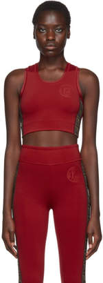 Fendi Red FF Roma Stamp Sports Bra