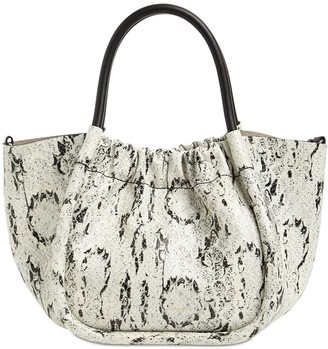 Proenza Schouler Small Snake Printed Leather Tote