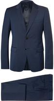 Prada Blue Checked Virgin Wool Suit