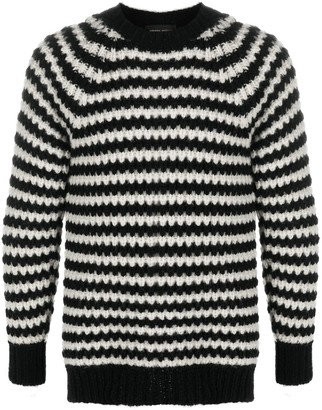 Roberto Collina Striped Chunky Knit Jumper