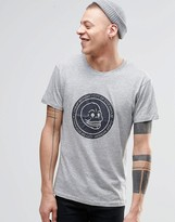Cheap Monday Standard T-Shirt Skull Cracked Gray Melange