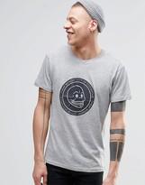Cheap Monday Standard T-shirt Skull Cracked Grey Melange