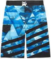 Asstd National Brand Pipeline 4-Way Stretch Shark Swim Trunks - Boys 8-20