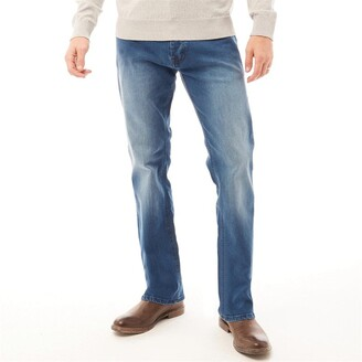 Onfire Mens Bootcut Stretch Jeans Dark Wash