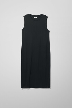 Weekday Beyond Sleeveless Dress - Black