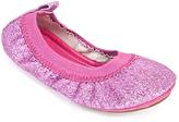 Yosi Samra Fuchsia Sammie Glitter Ballet Flat - Infant Toddler & Girls