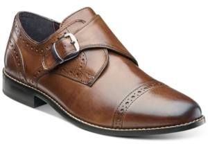 Nunn Bush Men's Newton Brogue Monk Strap Shoes Men's Shoes