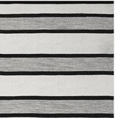 Williams-Sonoma Williams Sonoma Perennials® Awning Stripe Indoor/Outdoor Rug, Black