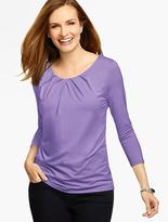 Talbots Pleated Scoopneck Top