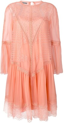 Alberta Ferretti Lace Panel Dress