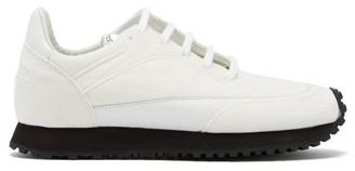 Comme des Garçons Comme des Garçons X Spalwart Tempo Leather And Velvet Trainers - White