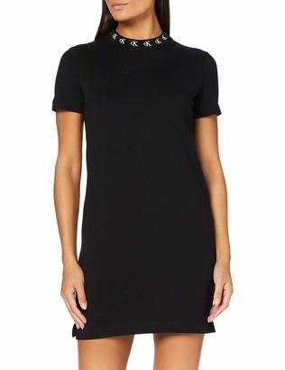 Calvin Klein Jeans Women's Logo Trim T-Shirt Dress