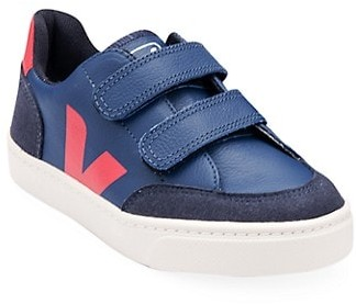 Veja Baby's & Little Boy's Contrast Leather V-Logo Grip-Tape Sneakers