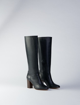 Maje Heeled smooth leather boots