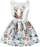 Shiny Toddler Little/Big Girls A Line Countryside's Printing Flower Girl Birthday Dress