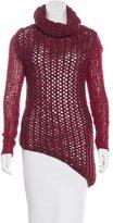 Helmut Lang Open-Knit Asymmetrical Sweater