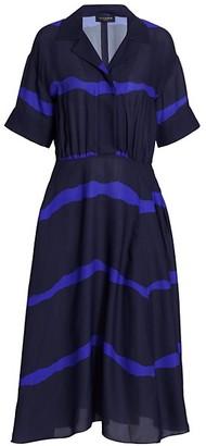 Piazza Sempione Tie-Dye Crepe Fit-&-Flare Dress