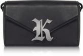 Christopher Kane Gothic K Devine Leather Shoulder Bag