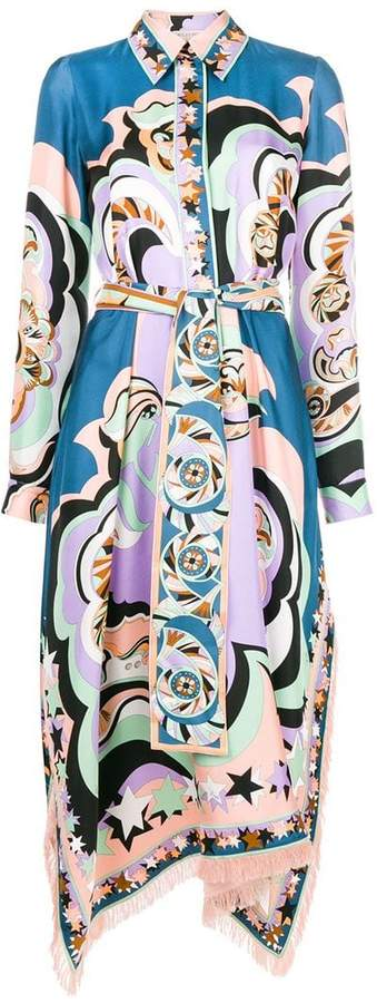 Emilio Pucci colour-block flared midi dress
