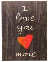 Holly & Martin Swoon Wall Wood Panel - I Love You More