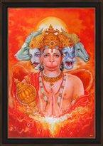 Avercart Lord Hanuman / Shree Hanumanji / Panchmukhi Hanumanji Poster 30x45 cm with Photo Frame (12x18 inch framed)