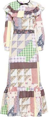 Miu Miu Bertha patchwork long dress