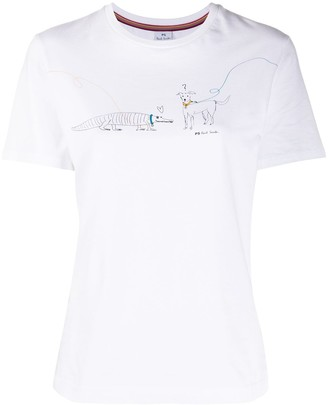 Paul Smith dog print T-shirt