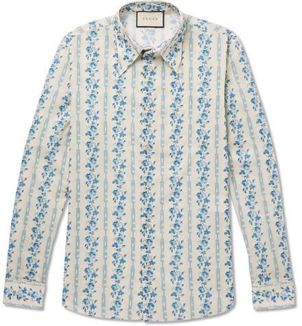 Gucci Printed Cotton-Poplin Shirt