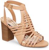 Madden-Girl Natural Remi High Heel Huarrache Sandals