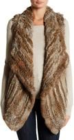 Bagatelle Knit Genuine Rabbit Fur Vest
