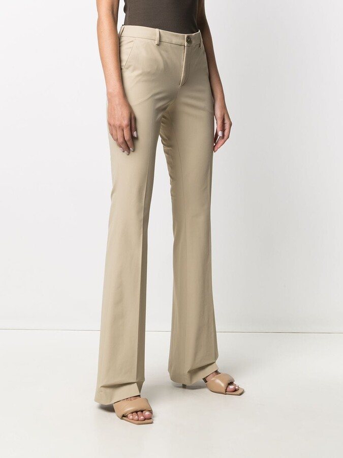 Thumbnail for your product : Pt01 Flared-Leg Trousers