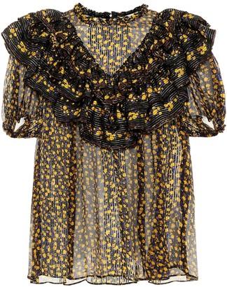 Ulla Johnson Doria floral silk top