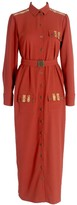 Relax Baby Be Cool Long Sleeve Button Up Shirt Dress With Pockets Burgundy