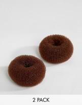 Asos Basics Pack of 2 Mini Brown Bun Holders