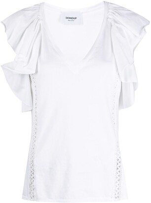 Dondup Ruffled Short Sleeve Top