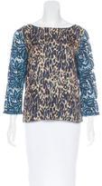Dries Van Noten Silk Embellished Top