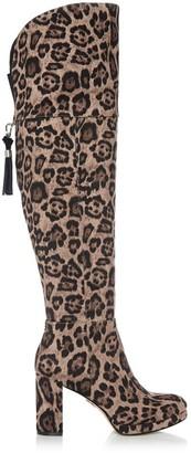 Moda In Pelle Valiser Leopard Fabric