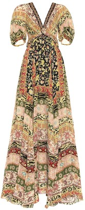 Etro Printed silk gown