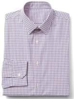 Gap Stretch Poplin tattersall standard fit shirt