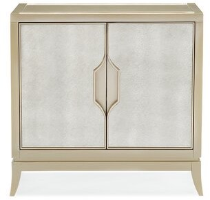 Caracole Compositions Adela 1 Drawer Nightstand