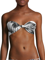 Mikoh Carmel Knot Detailed Bandeau Bikini Top