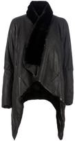 Rick Owens asymmetric leather coat